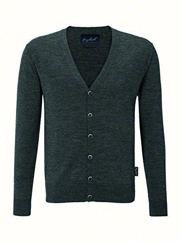 Hakro Cardigan Merino Wool, HK150-anthrazit-Melange, L
