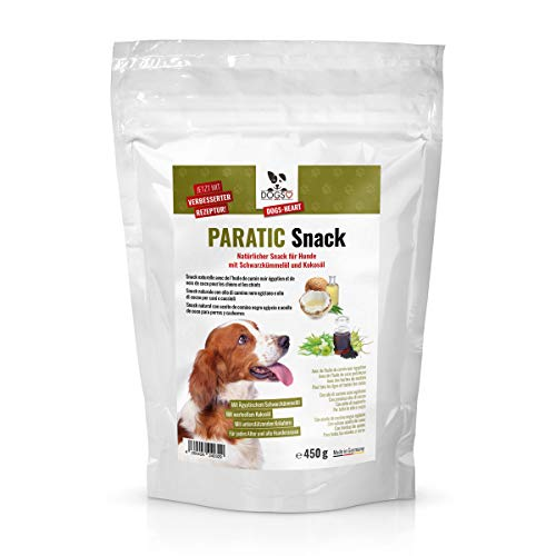 DOGS-HEART PARATIC Snack - Natürlicher Schutz- Snack für Hunde mit Schwarzkümmelöl und Kokosöl 450g