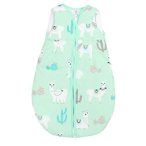 TupTam Baby Schlafsack Wattiert ohne Ärmel ANK001, Farbe: Lama Mint, Größe: 80-86