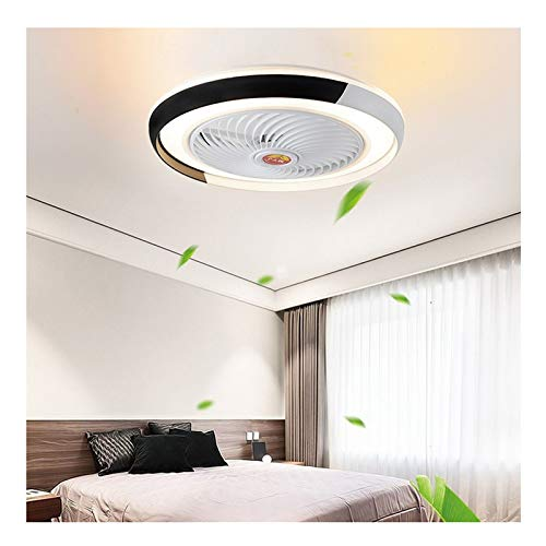 Lüfterlicht Deckenventilator Leuchtet LED Intelligent Decke Schlafzimmer Wohnzimmer Zimmer Schlafzimmer Restaurant Decke Ventilatorlicht Wind Heiß Ventilator Modern Einfachheit Lampen,A,50*20CM