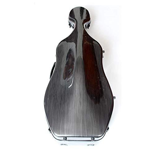 LVSSY-Nuovo Stile Violoncello Modello Nero Custodia per Violoncello Fibra di Carbonio Luce Custodia per Pianoforte Accessori per Strumenti Musicali