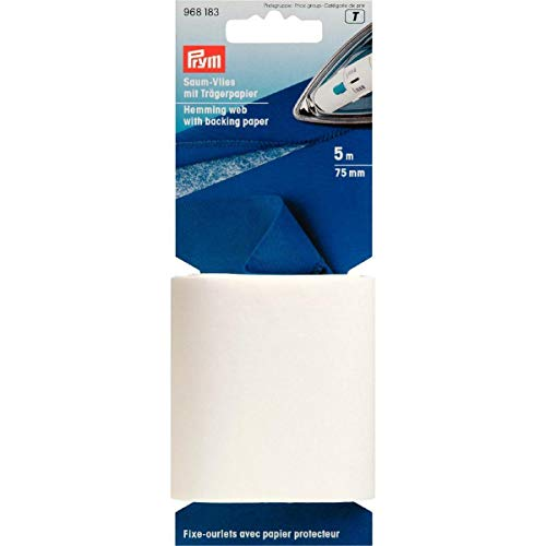 Prym Saumvlies avec Papier à Repasser Blanc 75 mm