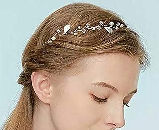 Decoshop hair sposa Rosa fascia per capelli perla fascia per capelli