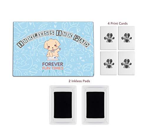 Kit de impresión de patas de mascota sin enredos | Consiga huellas de perros y gatos sin una sola gota de tinta en su mascota | Almohadilla de impresión no tóxica, fácil y rápida para mascotas