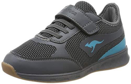 KangaROOS Sprint EV Unisex-Kinder Multisport Indoor Schuhe, Grau (Steel Grey/Turquoise 2106), 39 EU