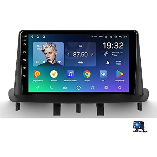 9' Android 10.0 2.5D Pantalla Táctil Radio Estéreo para Automóvil Navegación por Satélite para Renault Megane 3 2008-2014 Soporte GPS Autoradio WiFi Bluetooth/Control del Volante(Color:WiFi 1G+16G)