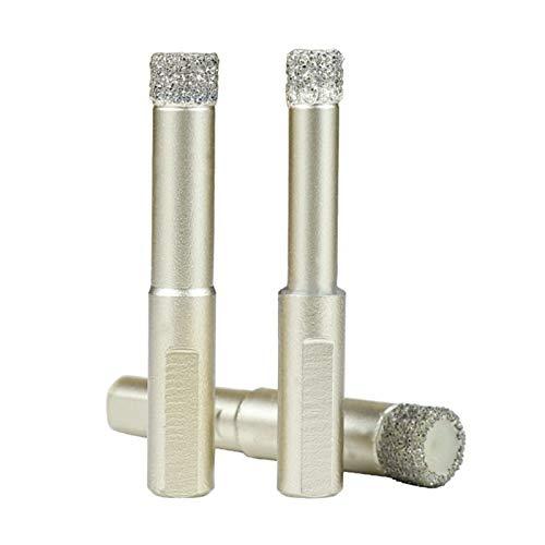 ESUHUANG Diamond Coated bit Broca de 6/8/10/12 mm de perforación en seco de mármol de Cristal Granito Cerámica Agujero Cortador de Diamante Core bit (Color : 8mm)