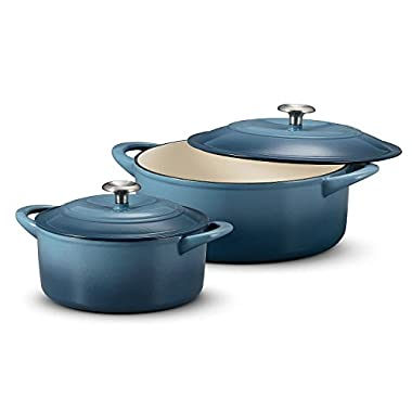 Tramontina Dutch Oven 2-Pack Set, 7 Quart & 4 Quart Ocean Blue
