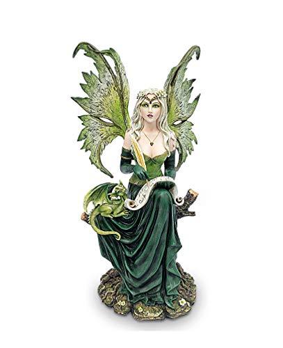 Les Alpes Orig. Fata Gaia, 44,5cm, Collezione Fairy Land - Statuetta Figura Dipinta a Mano - novità 2019-2020 - 042 752