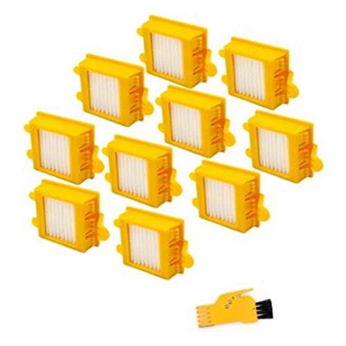 Apricot blossom Filtro DE HEPA Lavable Ajuste para Irobot Roomba 700 Series 760 770 772 774 775 Piezas de Repuesto de Robots de aspiradora (Color : Yellow)