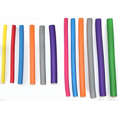 Hair Tools bandé Rouleaux - Court Jaune (180mm x 10mm)