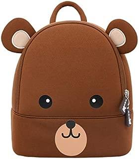 NOHOO Toddler Kids Backpack Brown BearBagCuteCartoon Mini Travel Bag for Baby Girl Boy 2-6 Years(L)
