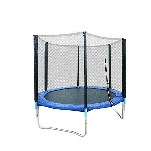 Trampolín de jardín para niños, trampolín para fitness, exterior, juego completo, incluye estera, red de seguridad, postes de red acolchados y cubierta para bordes, 183 cm, 300 kg