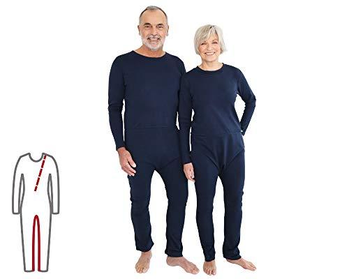 Pflegeoverall für Frauen und Männer; slim lang mit Bein- und Rückenreißverschluss; Demenz Overall; ActivePro (S)