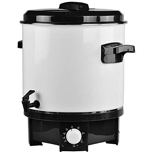 Bakaji Hervidor pastorizador eléctrico, capacidad de 27 litros, olla para conservar el vino, brulé, dispensador, bebidas calientes, 1800 W, con termostato ajustable y grifo