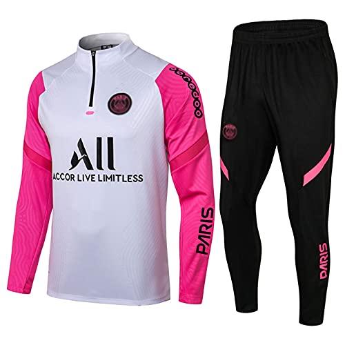 WZH-ZQQY Traje De Entrenamiento De Fútbol del Club De Campeonato Europeo (Chaqueta + Pantalones) -kpl-c1613(Size:Metro,Color:Blanco)