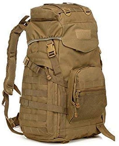 YHEGV Outdoor et Indoor 60L Tactical Camo Backpack Sports Outdoor Sac d'escalade Randonnée Sac à Dos (Couleur de la Boue) Vélo Sac à Dos