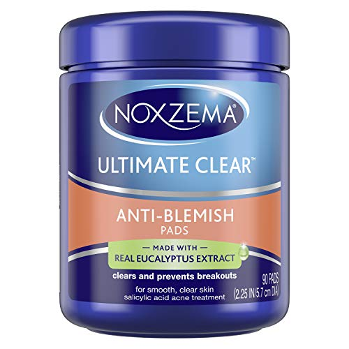Noxzema Ultimate Clear Face Pads Clears & Prevents Acne Anti-Blemish...