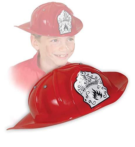 KarnevalsTeufel Feuerwehrhelm rot Helme Kinder Accessoires Rollenspiel Theater Feuerwehrmann (Feuerwehrhelm rot)
