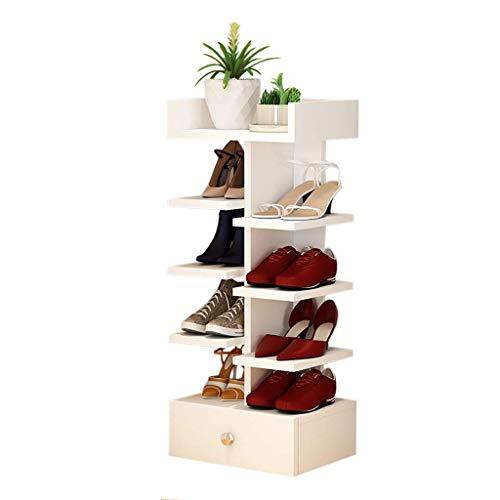 PIVFEDQX Zapatero Espacio de Almacenamiento para Zapatos Fila para Zapatos Cruzados Muebles de Madera Maciza para Muebles de hogar (Color: B)