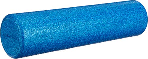 Lowest Prices! AmazonBasics High-Density Round Exercise Therapy Foam Roller - 24 Inches, Blue