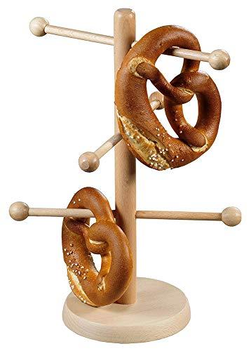 KESPER 68215 Brez\'n- und Wurstständer aus Buchenholz Höhe 37 cm/Brezelständer