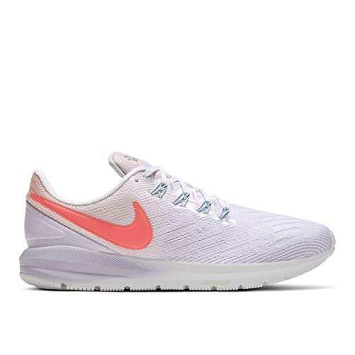 Nike Womens Air Zoom Structure 22 Running Trainers CW2640 Sneakers Shoes (UK 4.5 US 7 EU 38, Washed Coral Magic Ember White 681)