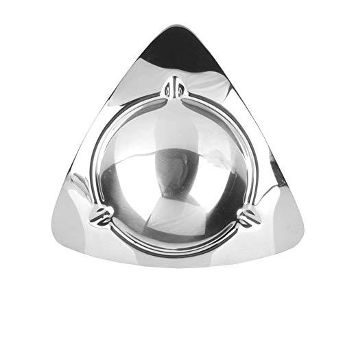 HAOYANGYHG- Cenicero de acero inoxidable Cenicero moderno Triángulo Sala de estar Home Office Bar Equipo Accesorios de cigarro Cigarette A través de YHGGHJG-146 ( Color : Silver , Size : 16cm*3.5cm )