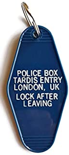 """Doctor Who Tardis Entry""""Lock After Leaving"""" Unified Intelligence Taskforce Inspired Key Tag"""