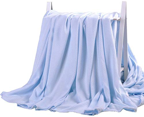 LAGHCAT Air Condition Cooling Throw Blankets - Lightweight Bamboo Fiber Knitted Throws Solid Summer...