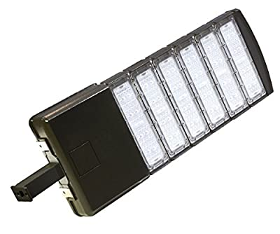 300w LED Module Shoebox Street Parking Lot Pole Outdoor Site Area Light (Brown)