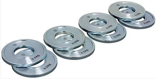Strengthshop Dischi–Set, Acciaio Inox, 8X 0.5kg/50mm Diametro del Foro