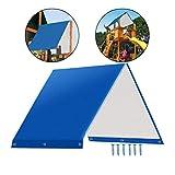 Lespar Dachplane für Spielturm Spielhau, Patio Swing Cover Swing Canopy Ersatzabdeckung,...