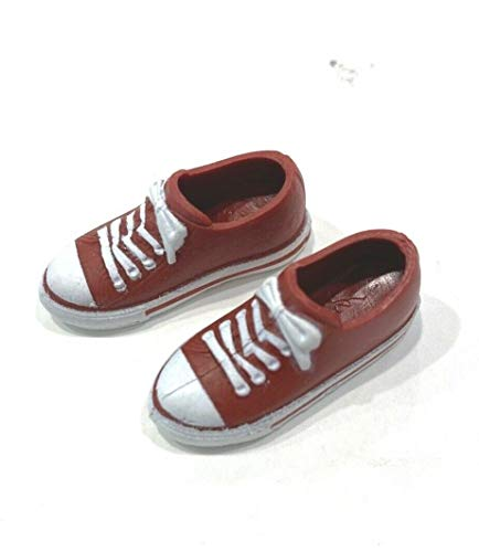 FIGLot 1/12 Scale red Sneakers for Mix Max, TBLeague Bodies with Bare feet (Figure NOT Included)