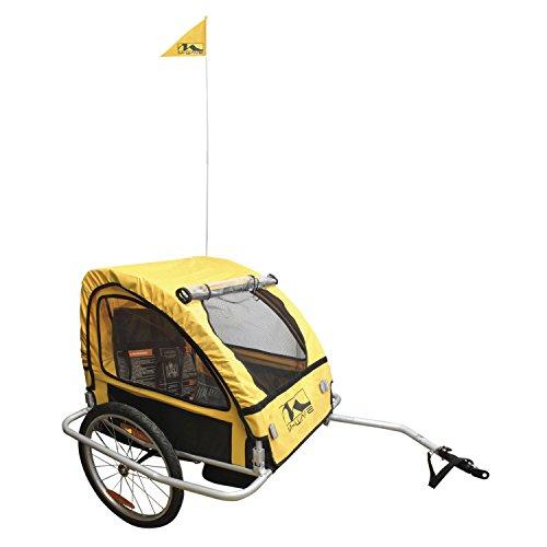 M-Wave Kids Ride Easy - Remolque Plegable para Bicicleta Infantil y Equipaje con Marco de Acero, Color Plateado, 60 x 75 x 28 cm