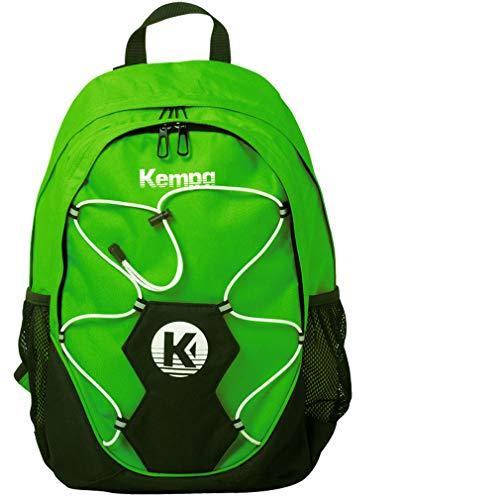 Kempa Rucksack grün mit Ballnetz für Handball, Volleyball mit Aufdruck Name