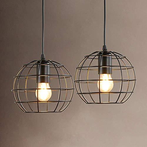 LHQ-HQ Luz de cúpula nórdico americano retro loft personalizado lámpara de una sola cabeza hierro arte arte industria hueco negro bar sala dormitorio lámpara de techo 18x18x14cm decoración del hogar