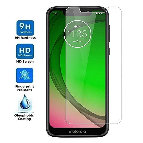 REY - Protector de Pantalla para Motorola Moto G7 Play, Cristal Vidrio Templado Premium