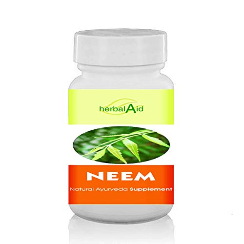 Herbal Aid Neem Capsule Extract Vegetarian 60 Capsules Supports Skin & Immune Health