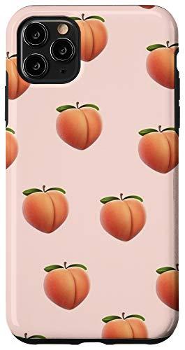 iPhone 11 Pro Max Peach Emoji Peachy Cool Peach Pattern Summer Bum Case