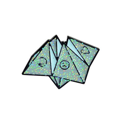 chenlong Emaille Pins Abzeichen Denim Mantel Schmuck Geschenke Broschen Origami Spiel