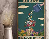Book - Be Kind To Your Mind Poster, Cerebrum Flower Anatomy