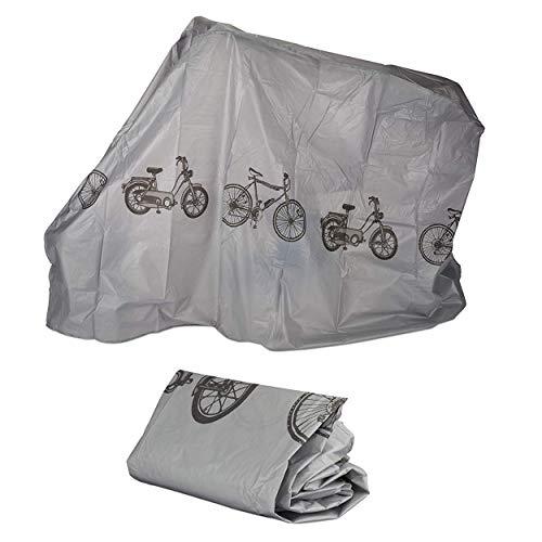 Oramics Fahrradgarage aus Polyethylen – 200 x 110 cm – reißfeste Schutzhülle für Ihr Fahrrad, robuste Abdeckung in Silbergrau (1 Stück)