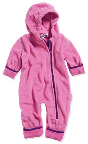 Playshoes Unisex Baby Fleece-Overall Farblich Abgesetzt, Rosa (Pink 18), 74