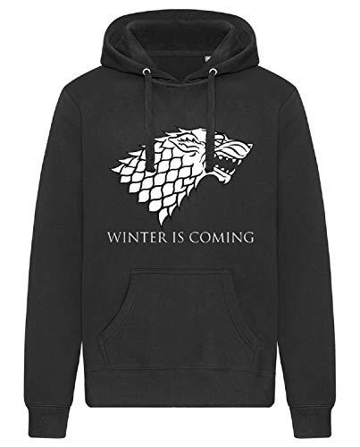 Game of Thrones Winter is Coming - Sudadera con capucha unisex Negro XL
