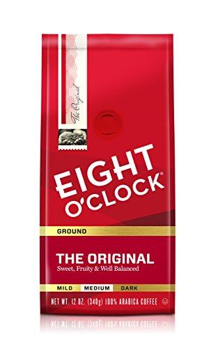 Eight O'Clock Coffee The Original, Medium Roast, Ground Coffee, 12 Ounce (Pack of 6), 100% Arabica, Kosher Certified