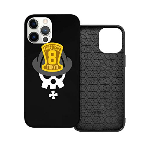 Fire Force Anime Theme Cases Compatible with Phone 12/12 Pro / 12 Mini / 12 Pro Max Case TPU Bumper Protective Cover