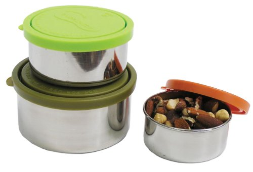 U Konserve - Nesting Trio, Perfect for Lunches or Picnics, Reduce Waste, Dishwasher Safe (Round, Moss)
