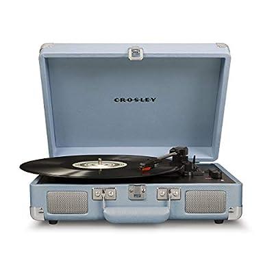 Crosley Cruiser Deluxe Portable Turntable (Tourmaline)