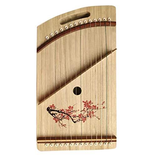 Chinese Gu Zheng, 14 Strings Guzheng Finger Trainer mit vollen Zusätzen, Rucksack, Mini, beweglichen, Geeignet for Erwachsene/Kinder/Anfänger/Professional (Color : B, Size : 42.5 * 23.5 cm)